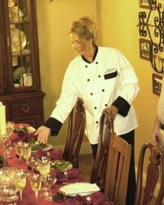 personal chef setting table